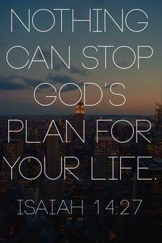 Gods Plan. Amen...Mildred Williams
