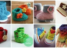 Crochet Ankle High Baby Booties Free Patterns Instructions