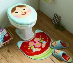 Dicas de Artesanatos, Reciclagem & Decoração: Moldes para jogo de banheiro de tecido