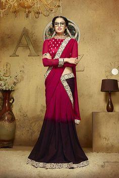 Wedding PartyWear Women Designer Ethnic  Saree  Sari Indian 61634