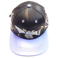 Tar Heels UNC, LOGO TEAM NFL BASEBALL LEATHER CAP Black/Blue-1  Available at the LEATHER collection www.theLEATHERcollection.net