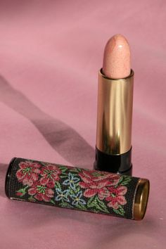 Image Detail for - Vintage Lipstick - 1970's AVON with Metal Tube & Fabric w/ Flowers ...