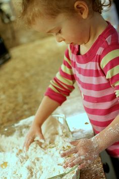 Super Easy Sensory Play: Cloud Dough from Fun at Home with Kids
