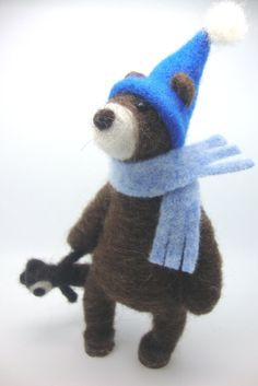 Needle felted bear needle felted animal nature by madamecraig.