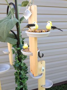 Bird Feeder simple natural as nature Wood by PrimitivesRefound, $22.95