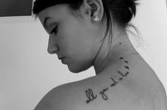 All You Need Is Love ... tattoo. Nice one!