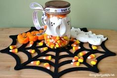 Halloween Peeps Mason Jar Craft