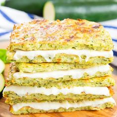 Zucchini Crusted Grilled Cheese Sandwiches. Low carb, easy and delicious!