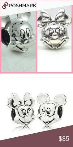 New Pandora Mickey and Minnie Portraits This is for 2 Brand New Authentic Pandora Charms  This Brand New Item Comes in Pandora Pouch.   All Hallmarked and properly stamped.  If any questions or concerns please drop me a note.   Yes I Bundle too!!! With 1000's to choose from!   Thanks and Happy Shopping. Pandora Jewelry Bracelets