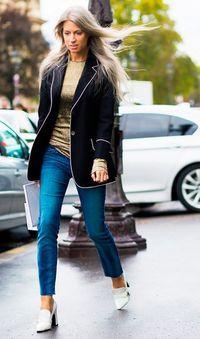 sarah harris aposta na calça skinny