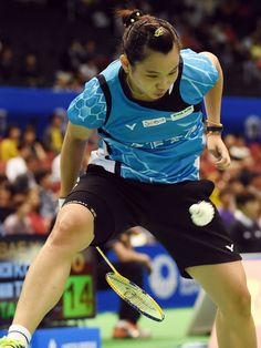 Fourth-seeded Tai Tzu Ying of Taiwan hits a return against Bae Yeon-Ju of South Korea during their Japan Open Superseries badminton tournament women's singles second round match in Tokyo.  Toshifumi Kitamura, AFP/Getty Images