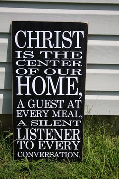 Christ+is+the+center+of+our+home+VINYL+DECAL+by+laniercreations,+$14.00