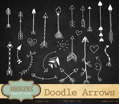 Check out Doodle Arrows Clip Art Vectors by Origins Digital Curio on Creative Market