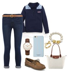"""#31"" by naturallynatalie on Polyvore featuring Longchamp, Daniel Wellington, Kate Spade, Sperry Top-Sider, Frame Denim, Isaac Mizrahi and Dorothy Perkins"