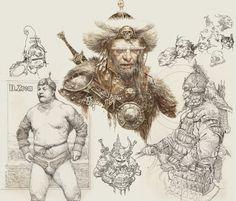 Sketchbook, part 3, Daniel Zrom on ArtStation at https://www.artstation.com/artwork/1wQJo