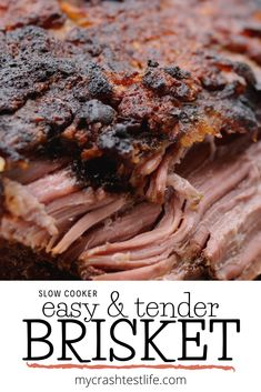 This is a simple slow cooker beef brisket recipe with onions and mustard can be made in the morning and by the time you get home, dinner is ready. Beef Brisket Recipes Crockpot, Slow Cooker Brisket, Bbq Brisket, Slow Cooker Recipes, Crock Pot Brisket, Chef Recipes, Pork Recipes, Dinner Recipes, Game Recipes