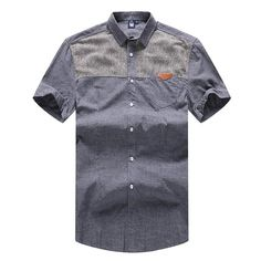 Quality Cotton Men's Short-Sleeve Casual Fashion Shirt 5XL-10XL 2 Colo – Floessence