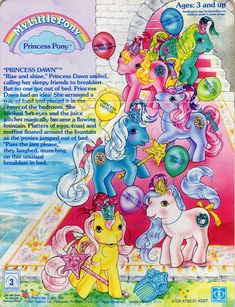 My Little Pony Princess Pony Year 2 Backcard