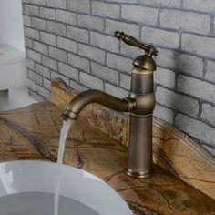 Centerset Antique Brass Bathroom Sink Faucet T0448A