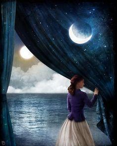 BLUE - AZUL - night - noite - moon - lua