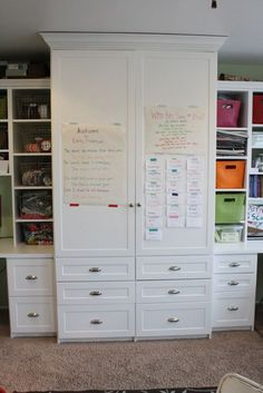 homeschool room tour...she used butcher paper to display the current poem they were working on memorizing...to the side is the latin vocab. words they were memorizing - all in easy view!!!  And I love the different colors of words and tapes (washi tape from Target) - Fun...