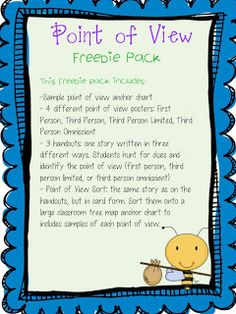 Point of View Freebie..very cute