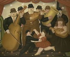 Dancing in Colombia. Fernando Botero