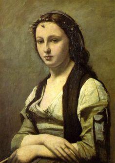 Woman with a Pearl Jean-Baptiste Camille Corot: El romanticismo francés. Nació en París el 16 de julio de 1796. Uno de los más grandes pintores del paisaje que influyó notablemente en los impresionistas.