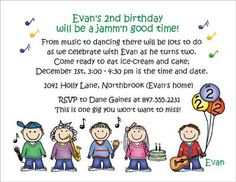 music themed birthday party  | Music Theme - Personalized Party Invitations by The Personal Note. Use ...