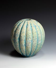 Peter Beard Carved Ceramic Gourd Vessel  Dated: 2013  £1,100