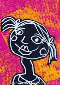 Billedkunstner og freelance underviser www. Kindergarten Self Portraits, Kindergarten Art, Preschool Art, Jr Art, Ecole Art, School Art Projects, Art Lessons Elementary, Art Classroom, Mail Art