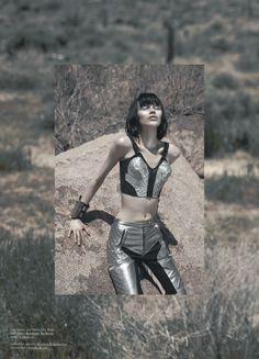 Ranya Mordanova for Tank Magazine Summer 2011 by Jamie Isaia silver metallic