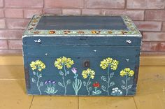 hand painted wooden chest at my country house