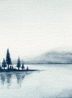 Watercolor Landscape vector art illustration painting of nature Watercolor Painting, Acrylic Painting, Drawing - Activity, Painted. Watercolor Landscape Paintings, Landscape Drawings, Watercolor Water, Watercolor Trees, Water Color Painting Landscape, Landscape Paintings Simple, Abstract Watercolor Tutorial, Watercolor Pictures, Watercolor Paintings Abstract