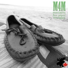 Wear these crepe sole buffalo moccasins anywhere you want! Very durable! Moccasins, Buffalo, Canada, Flats, Leather, Handmade, How To Wear, Collection, Fashion
