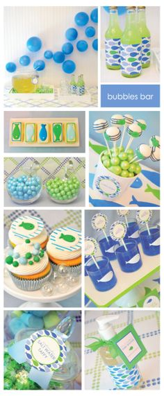 I was so thrilled when my kiddo longed to be have a very inflation party for their birthday party, look at a number of inspiring ideas. Bubble Birthday Parties, Birthday Party Desserts, 2nd Birthday, Birthday Ideas, Bubble Guppies Party, Bubble Party, Tea Party Baby Shower, Baby Party, Birthday Wall Decoration