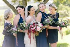 Navy Lace Bridesmaid