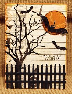 Halloween Idea - Spooky trees and birds for the window. Description from pinterest.com. I searched for this on bing.com/images