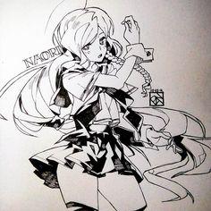 commission from @_naori__ ! #illustration #drawing #art #artwork #girl #sailoruniform #schooluniform #cute #cool #commission #anime #manga