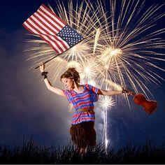"Instagram: ""Lindsey Stirling Happy 4th of July! Repost from: @ash_stirlingite  Original photo credit: Scott…"""