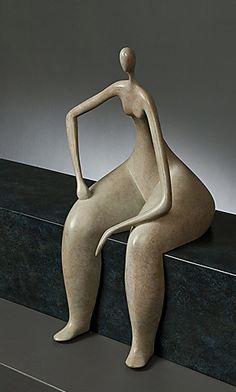 Marie-Madeleine Gautier Love this! Sculptures Céramiques, Art Sculpture, Pottery Sculpture, Abstract Sculpture, Ceramic Figures, Ceramic Art, Plus Size Art, Paperclay, Clay Art