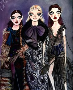 Marc Jacobs Fall '16 illustrated by Unskilled Worker