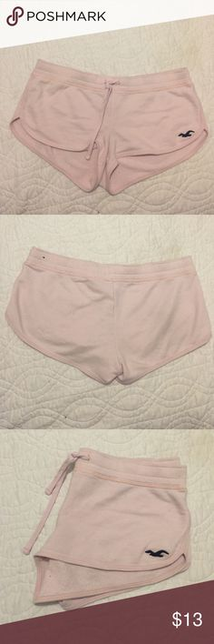 Pink cotton Hollister shorts Baby pink cotton Hollister draw string shorts Slightly pilfered Shorts