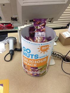"Thanks to CVS for urging its customers to ""go nuts"" for single-serve nuts at checkout. Nuts can be part of a healthy checkout. (CVS, Washington, DC, 7/14)"