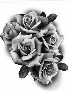 Untitled Beautiful Flower Drawings, Pencil Drawings Of Flowers, Rose Flower Tattoos, Flower Tattoo Designs, Tattoo Roses, Rose Drawing Tattoo, Tattoo Drawings, Rose Zeichnung Tattoo, Realistic Rose Drawing