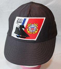 Vintage Snapback Hat US Coast Guard 200th by ilovevintagestuff
