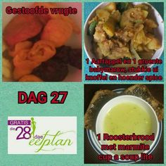 dag 27 Healthy Food Choices, Healthy Options, Diet Recipes, Cooking Recipes, Recipies, Diet Meals, 28 Dae Dieet, Dieet Plan, Low Carb Menus