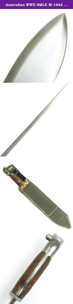 Australian WWII SMLE M-1944 Machete Bayonet with Scabbard. New Made Item: We haven t seen an original in years, this is a new made high quality reproduction Australian M-1944 Machete Bayonet or Bolo Bayonet for use by Airborne troops on S.M.L. E. #1 Mk 3 Rifles for use in the Jungle War against the Japanese in South East Asia. This high carbon steel blade with oil rubbed wood grips comes complete in jungle green stiff canvas scabbard with belt loop. A very rare bayonet that doubled as a...