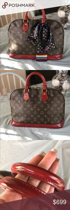 "1b1e4dbc6a0 Louis Vuitton Alma pm Authentic LV Alma. Painted and sealed in a beautiful  ""autumn"