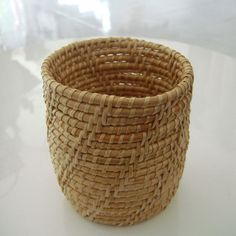 small basket from natural material by aLuckyClover on Etsy